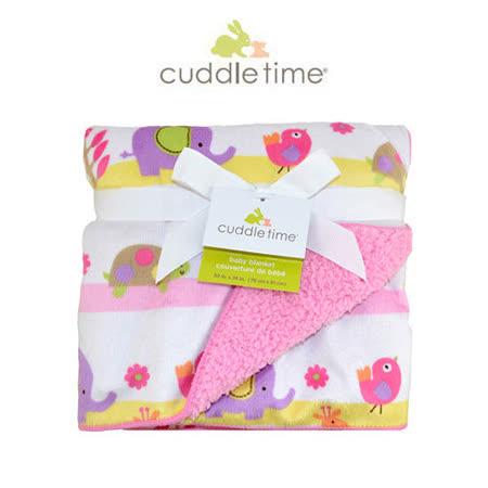 【美国cuddletime】多用途宝宝携带毯-粉红动物园柔柔毯