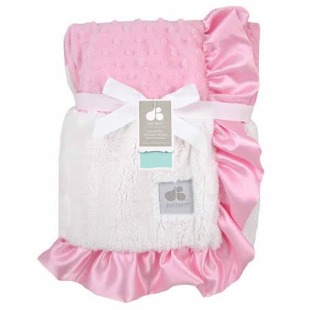 【美国just born】多用途宝宝携带毯-奢华玫瑰泡泡毯