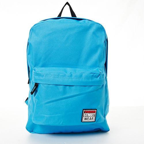 VISION STREET WEAR 潮牌 多色 休閒雙肩後背包--水藍-- VB2032