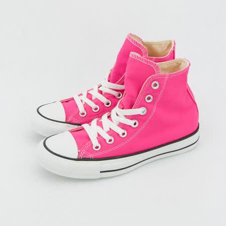 女 CONVERSE 高筒帆布鞋 ALL STAR 螢光粉 33U170011