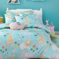 OLIVIA 《肯亞大冒險 綠》標準雙人床包枕套組
