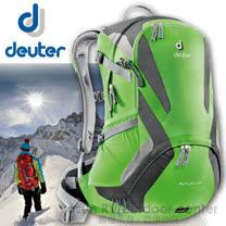 【德國 Deuter】Futura 22 輕量網架式透氣背包.單車背包.登山背包.露營背包.雙肩背包.旅行包_34204 綠/深綠
