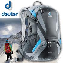 【德國 Deuter】Futura 22 輕量網架式透氣背包.單車背包.登山背包.露營背包.雙肩背包.旅行包/34204 黑/灰