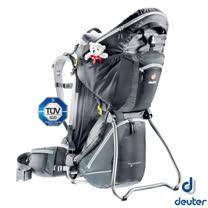 【德國 Deuter】Kid Comfort III 18L 專業輕量嬰兒背架背包.兒童揹架.野外露營行動嬰兒座椅/36524 黑/灰