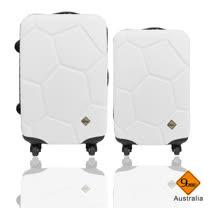 Gate 9 經典世紀足球系列ABS輕硬殼行李箱24+20吋