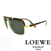 LOEWE 西班牙皇室品牌羅威軍用質感太陽眼鏡(豹紋) SLW404-316P