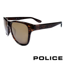 POLICE 義大利警察都會款個性型男眼鏡-膠框(豹紋) POS1823G0978