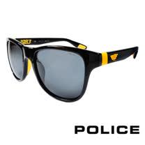 POLICE 義大利警察都會款個性型男眼鏡-膠框(黃色) POS1823GZ42G