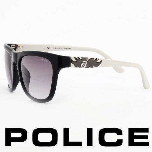 POLICE 義大利警察都會款 型男眼鏡~膠框 白色  POS1895~0700