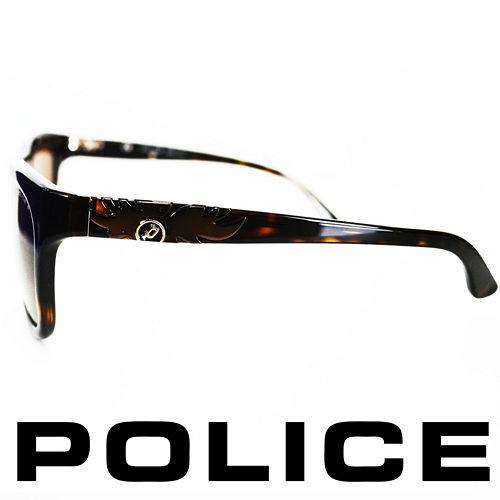 POLICE 義大利警察都會款 型男眼鏡~膠框 琥珀  POS1895~722P