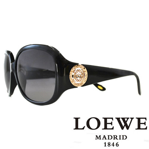 LOEWE 西班牙皇室品牌羅威 立體LOGO太陽眼鏡 咖啡  SLW744~0700