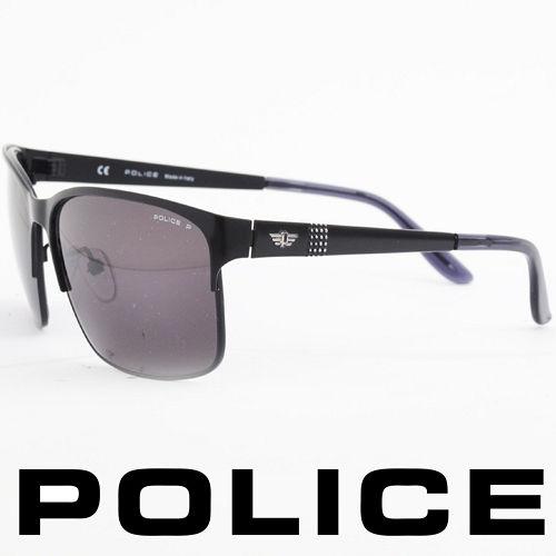 POLICE 義大利警察都會款 型男眼鏡~金屬框 黑色  POS8875~531P