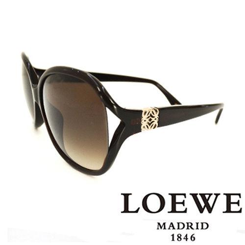 LOEWE 西班牙皇室品牌羅威 立體LOGO太陽眼鏡 咖啡  SLW742~0958