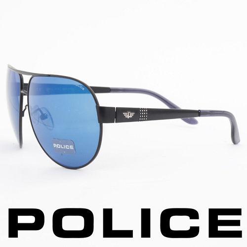POLICE 義大利警察都會款 型男眼鏡~金屬框 黑色  POS8876~531B