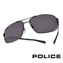 POLICE 義大利警察都會款個性型男眼鏡-金屬框(銀色) POS8879G568P