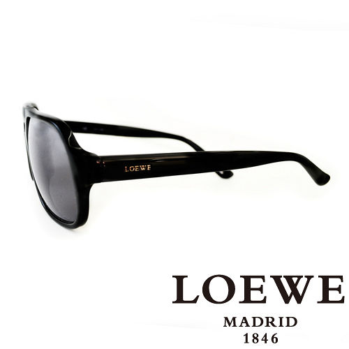 LOEWE 西班牙皇室品牌羅威一槓太陽眼鏡 黑  SLW767~0700