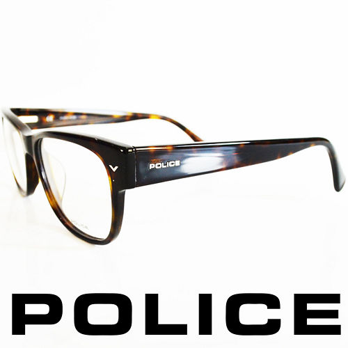 POLICE 義大利警察都會款 型男眼鏡~膠框 豹紋  POV1765~0722