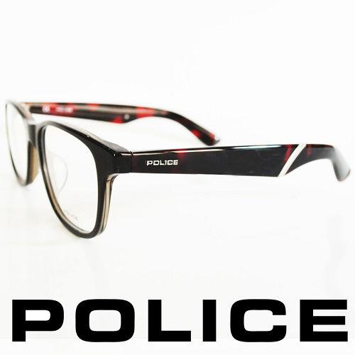 POLICE 義大利警察都會款 型男眼鏡-膠框 琥珀紅  POV1792-0090