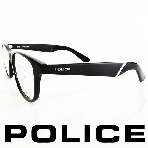 POLICE 義大利警察都會款 型男眼鏡~膠框 黑  POV1792~0700
