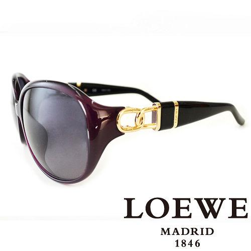 LOEWE 西班牙皇室品牌羅威環扣高 太陽眼鏡 紫  SLW784~09PW