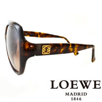 LOEWE 西班牙皇室品牌羅威素面立體LOGO太陽眼鏡(琥珀) SLW775-0744