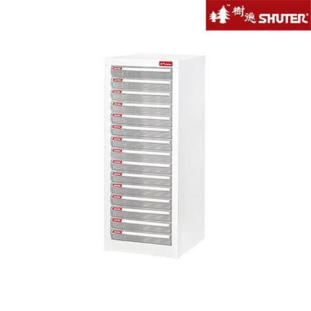 【SHUTER樹德】A4十五層單排雪白資料櫃(15低抽)