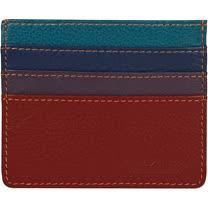 《TRAVELON》拼色真皮防護證件卡夾(紅)