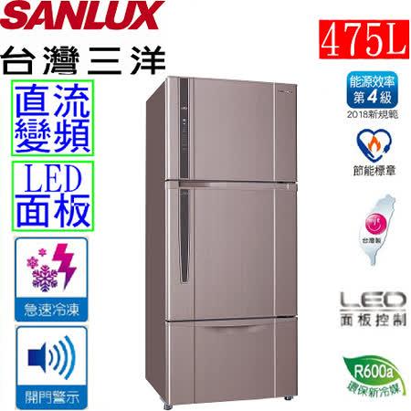 【台灣三洋 SANLUX】475L三門直流變頻冰箱 SR-B475CV