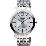 VOGUE 尊爵時尚羅馬腕錶-銀 2V1407-231S-S