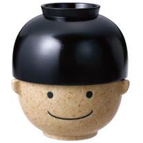 sunart 日式飯湯碗組 (滿福太郎) 黑