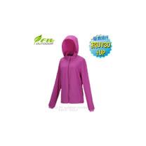 【FIT】女新款 彈性吸排抗UV 防曬外套.透氣外套.薄夾克/排汗.吸濕.輕量.快乾.休閒時尚款/ ES2304 紫羅蘭