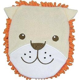日本創意小品◇超細纖維手套◇《橘色-獅子圖案》
