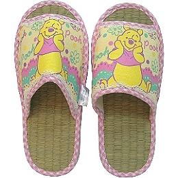 【波克貓哈日網】迪士尼系列◇小熊維尼圖案◇《藺草室內拖鞋》
