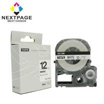 【NEXTPAGE】EPSON 一般相容標籤帶 LC-4WBN (白底黑字 12mm) 2入