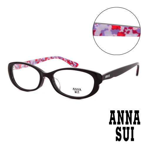 Anna Sui 安娜蘇 印象派花紋 平光眼鏡 紫  AS591771