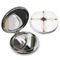 JB Design 隨身圓鏡-金屬十字