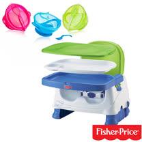 費雪牌 Fisher-Price寶寶小餐椅+Nuby 學習吸盤碗(附湯匙)