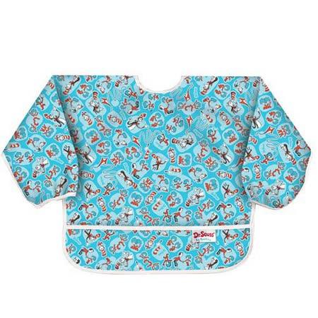 美國Bumkins防水幼童圍兜(長袖)-帽子貓 BKSU-C01