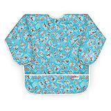美國Bumkins防水兒童圍兜(長袖)-帽子貓 BKAS-C01