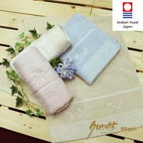 【クロワッサン科羅沙】日本毛巾~今治生產 CR玫瑰園 毛巾 34*80CM