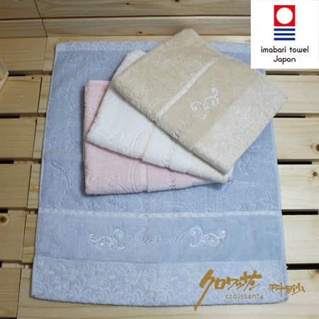 【クロワッサン科羅沙】日本毛巾~今治生產 CR玫瑰園 方巾 34*40CM