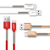 HANG HTC/三星/SONY/LG Micro USB 3A 金屬彈簧快速傳輸充電線(1M)