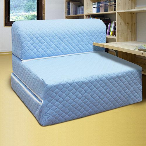 KOTAS高週波吸濕排汗彈簧沙發床椅 單人 三尺 藍