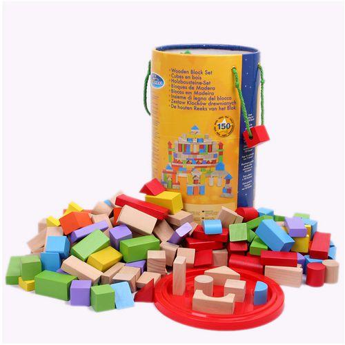 funKids 木製~快樂玩轉世界積木 桶 150粒