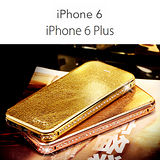 瞬間變幻時尚名媛奢華經典水鑽邊框式iPhone6(4.7吋)手機皮套