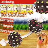 LOVAB》結繩流星刺蝟雙球寵物玩具
