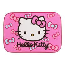 Hello Kitty蝴蝶結絨毛地墊-桃紅色(KT-0607B)