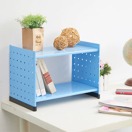 【ikloo】貴族風可延伸式組合書櫃(天空藍)