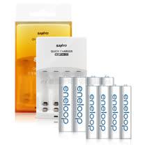 三洋智慧型充電器+Panasonic eneloop 低自放3號充電電池(8顆入)