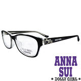 Anna Sui安娜蘇日本Dolly Girl系列可愛少女愛心款造型眼鏡‧黑【DG528016】